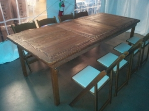 8' Fruit Wood Farm Table