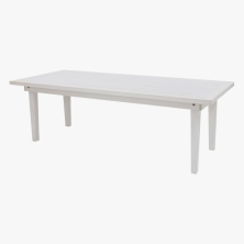 8' White Farm Table